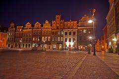 ноча старый poznan рынка Стоковая Фотография RF