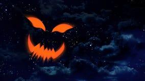 Ноча стороны тыквы хеллоуина иллюстрация штока