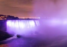 ноча США niagara светов падений Стоковое Фото
