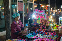 ноча Таиланд рынка mai chiang Стоковое Фото