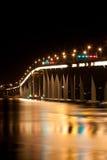 ноча Тасмания моста Стоковая Фотография
