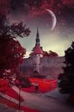Ноча Таллина мистическая Стоковое Фото