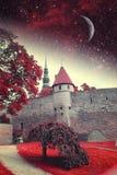 Ноча Таллина мистическая Стоковое Изображение
