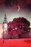 Ноча Таллина мистическая Стоковое Изображение RF