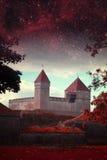 Ноча Таллина мистическая Стоковая Фотография