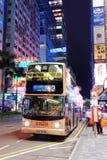 Ноча улицы Hong Kong Стоковые Фото