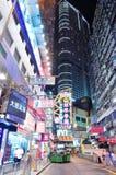 Ноча улицы Hong Kong Стоковое фото RF