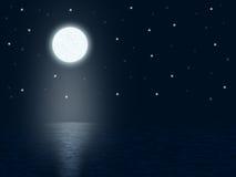 Ноча лунного света Стоковое Изображение RF