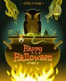 ноча луны иллюстрации halloween Стоковое Фото
