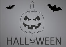ноча луны иллюстрации halloween Стоковое Изображение