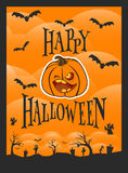 ноча луны иллюстрации halloween Стоковые Фотографии RF