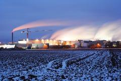 ноча фабрики Стоковые Изображения