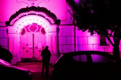 Ноча фестиваля белая Стоковое Фото