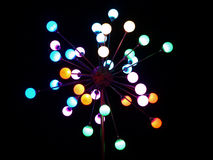 ноча фонарика цвета города Стоковые Изображения