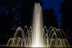 ноча фонтана Стоковое Фото