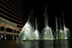 ноча фонтана Стоковая Фотография