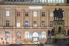 Ноча Франкфурта Стоковое Фото