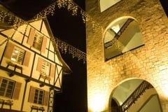 ноча франчуза зданий Стоковое Изображение RF