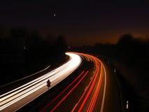 ноча хайвея Стоковое Изображение