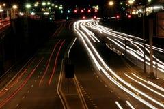 ноча хайвея Стоковые Изображения