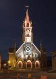 ноча церков старая стоковое фото rf