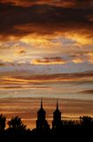 ноча церков Стоковая Фотография RF