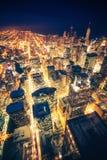 Ноча Чикаго Стоковые Изображения