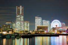 Ноча Япония горизонта Иокогама Стоковые Фотографии RF