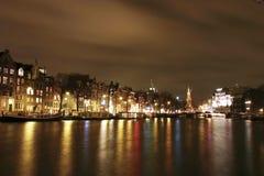 ноча amsterdam стоковые фотографии rf