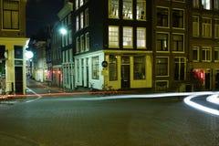 ноча amsterdam Стоковое фото RF