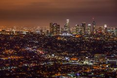 ноча angeles городская los Стоковое Изображение