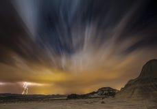 Ноча Bardenas Стоковое Изображение RF
