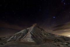 Ноча Bardenas Стоковое фото RF