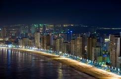ноча benidorm стоковое изображение