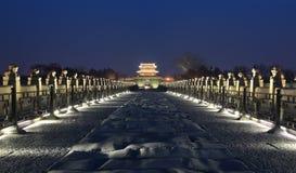 Ноча birdge lugou Стоковое Изображение RF