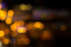 Ноча bokeh нерезкости светов города Стоковые Фотографии RF