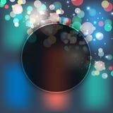 Ноча bokeh черной дыры также вектор иллюстрации притяжки corel 10 eps Плакат продажи bokeh предпосылки продажи и пузыря расцветки Стоковое Фото