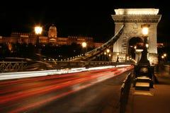 ноча budapest светлая Стоковая Фотография RF