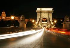 ноча budapest светлая Стоковое Изображение
