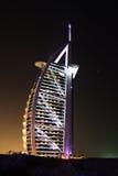 ноча burj al арабская Стоковое Изображение