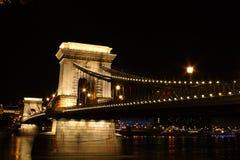 ноча chainbridge Стоковая Фотография RF