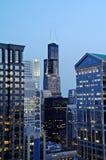 ноча chicago городская Стоковые Фото