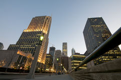 ноча chicago городская Стоковое Фото