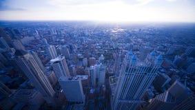 ноча chicago Стоковые Изображения RF
