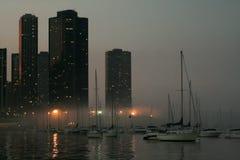 ноча chicago Стоковые Фотографии RF