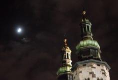 Ноча cracow Стоковая Фотография RF