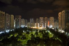 ноча dhabi города abu Стоковые Фото