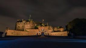 ноча edinburgh замока Стоковое Изображение RF