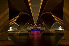 ноча esplanade моста Стоковое фото RF