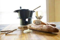 ноча fondue Стоковое фото RF